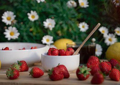 Salade fraises/citron
