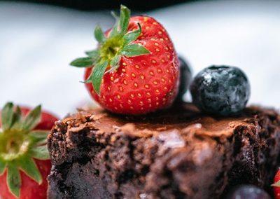 Moelleux chocolat cœur fraise